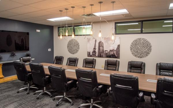 The boardroom at the Indianapolis office of mAccounting