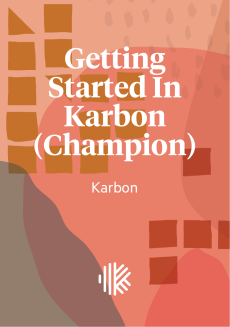 Cover Design - Getting Started In Karbon (Champion)