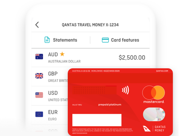 Use your Qantas Travel Money Card