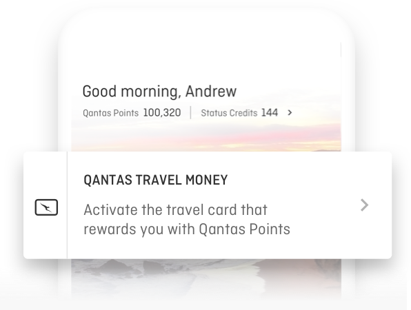 Activate your Qantas Travel Money Card