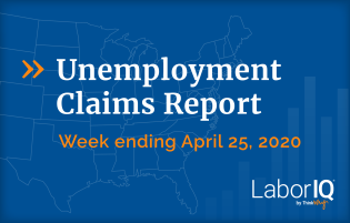 Unemployment claims ending the week of April 25