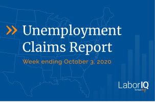 Unemployment Claims lead October 3. 2020