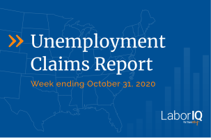 Unemployment claims lead image October 31 2020