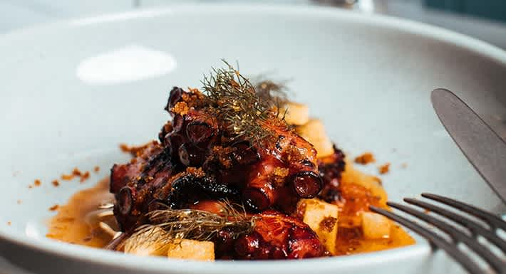 The signature Il Polpo made with grilled marinated octopus, salsa all'arrabiata, 'nduja, bronze fennel. Source: Quandoo \[…\]