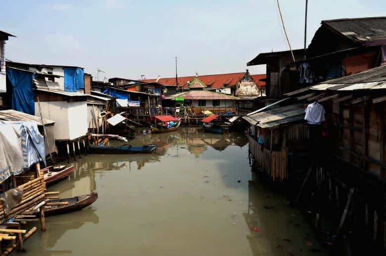 Image of the slums in Jakarta