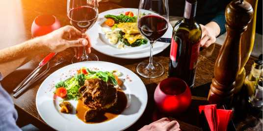 Steak and wine. Credit: Shutterstock \[…\]  [Read More…](https://quisine.quandoo.co.uk/guide/london-dates/attachment/header_date_night/)