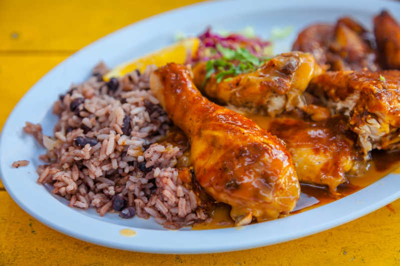 Who's for jerk chicken, rice and peas? Source: Shutterstock \[…\]  [Rea](https://quisine.quandoo.co.uk/guide/best-jamaican-restaurants-london/attachment/shutterstock_1046966752/)