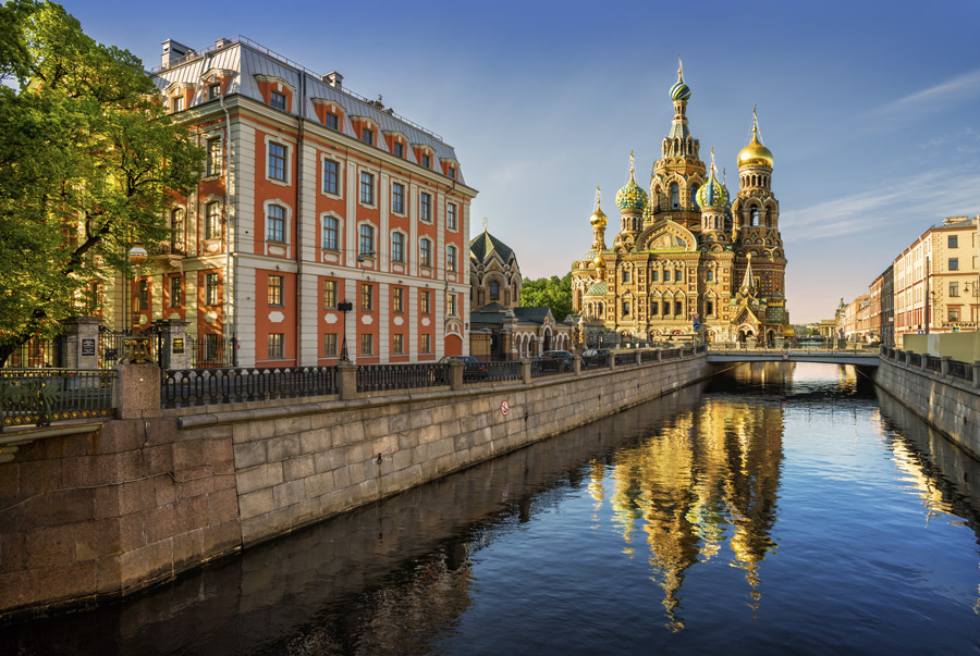 St. Petersburg Cathedral of Our Savior on Spilled Blood in Russia.