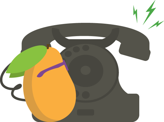 Mango phone ringing.