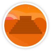 "Mango Languages' ""Spanish, Latin American"" badge icon."