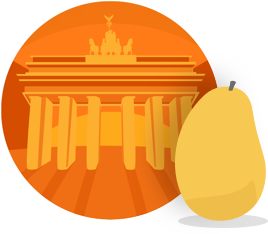 Mango's German Manguito course badge icon.