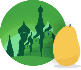 Mango's Russian manguito icon badge.