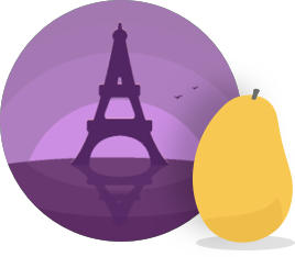 Mango Languages French Manguito badge