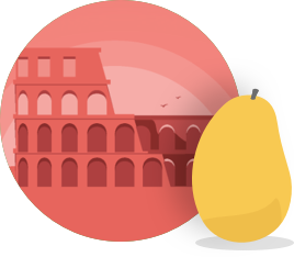 Mango's Italian manguito icon badge.