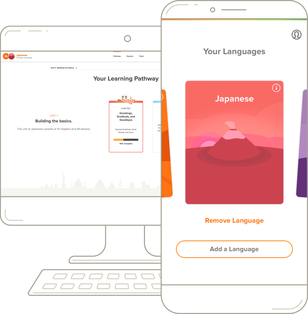 Learn japanese start speaking japanese with mango languages mangos japanese desktop pathway and mobile course m4hsunfo
