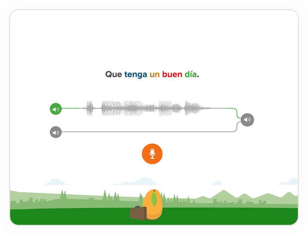 Screenshot of voice comparison in Spanish Latin American