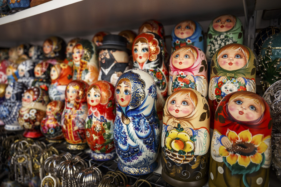 Matryoshka, or Russian nesting dolls.
