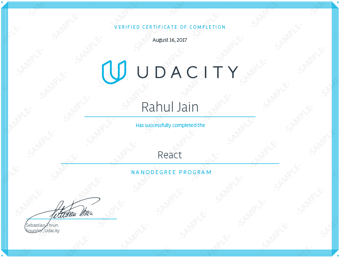 nd019 Nanodegree Certificate