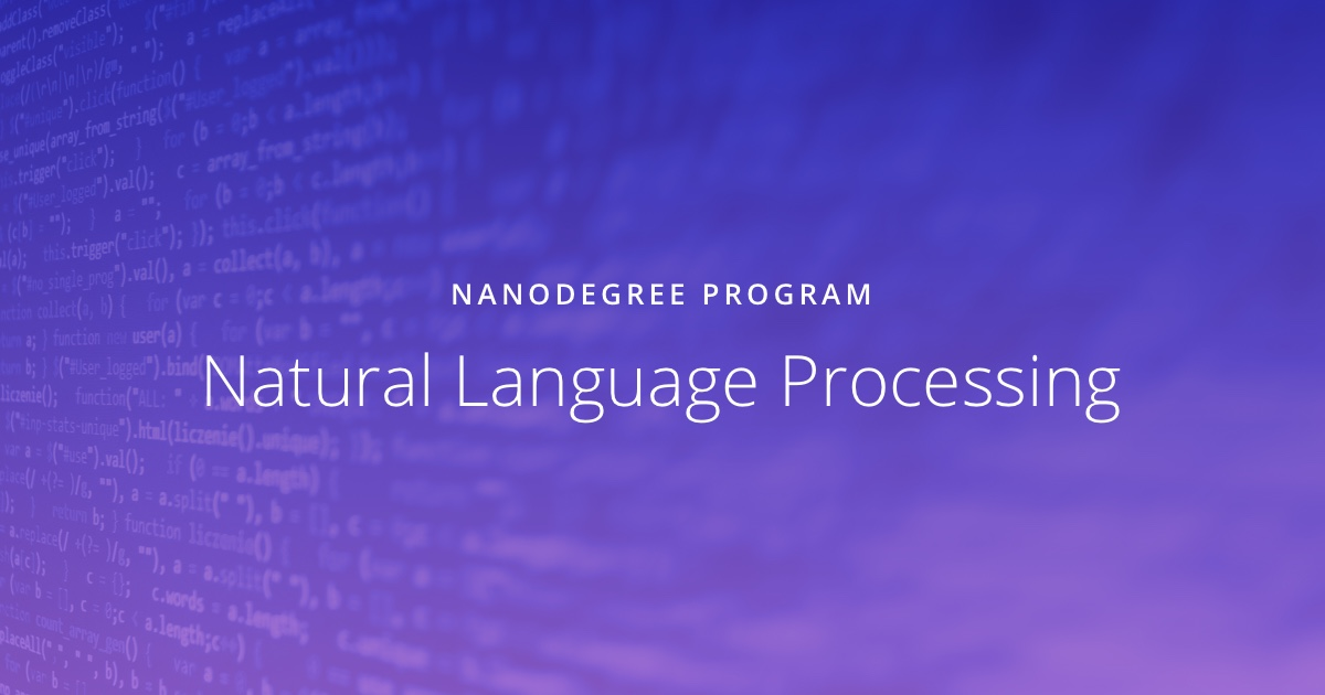 Natural Language Processing | Udacity
