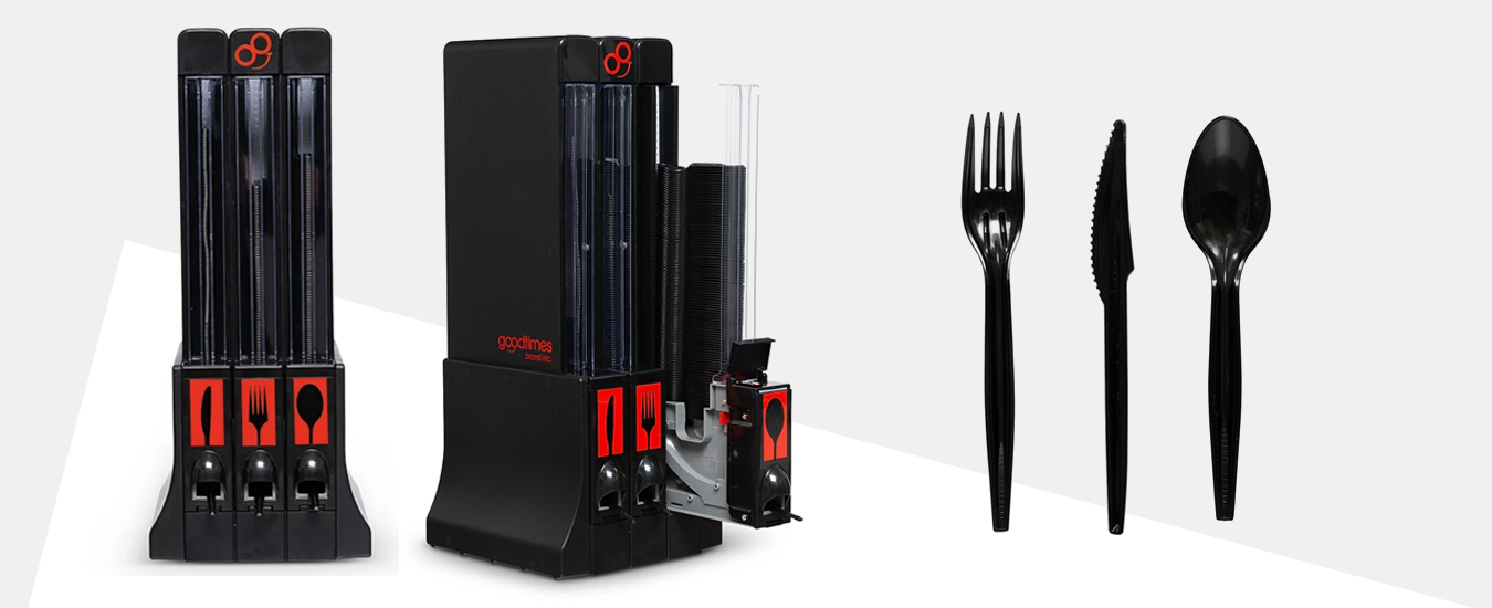 Goodtimes MaxStacked Cutlery & OneTouch Cutlery Dispenser
