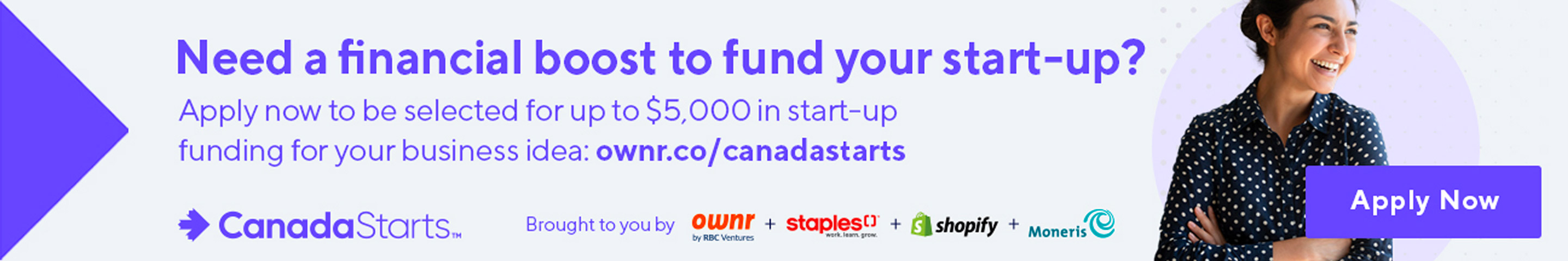 CanadaStarts $5,000 to launch your dream business