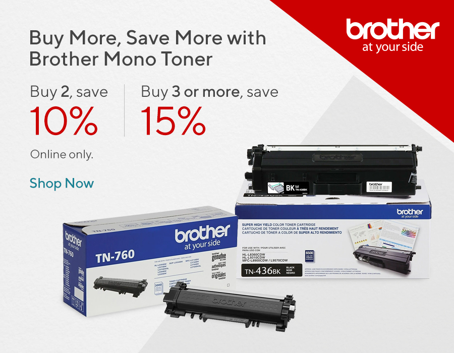 Buy More, Save More with Brother Mono Toner