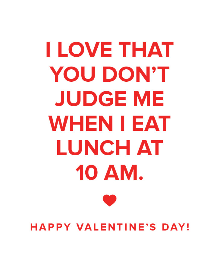 I love that you don't judge me office valentine