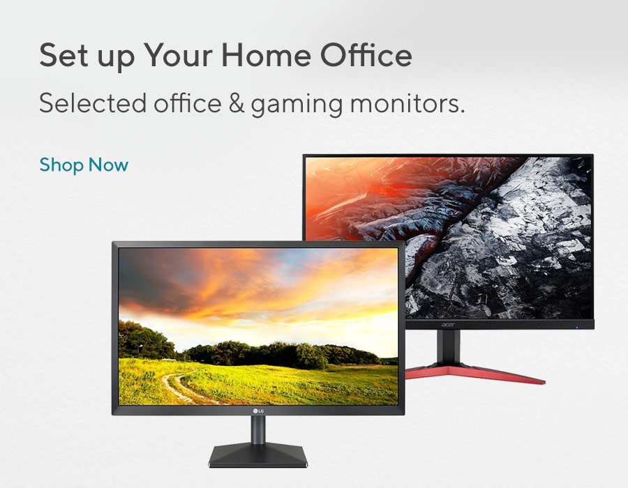 Big Monitor Event - set up your home office