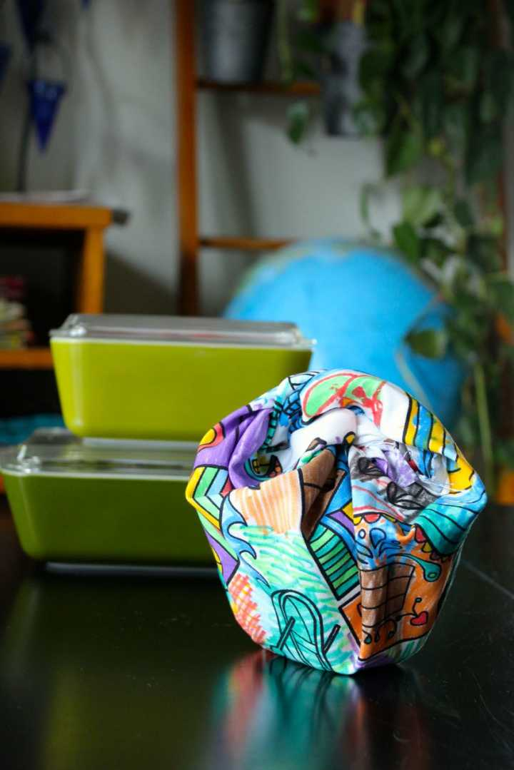 sparkle crafts: furoshiki lunch bag wrap