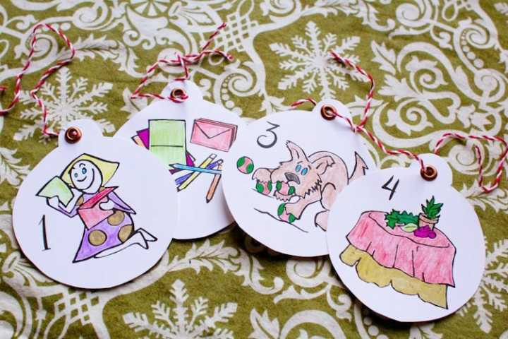 sparkle craft holiday special: martin & sylvia's colorable ornaments for advent