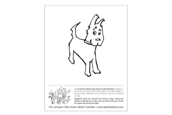 Junkyard Printable Coloring Sheet for Blog