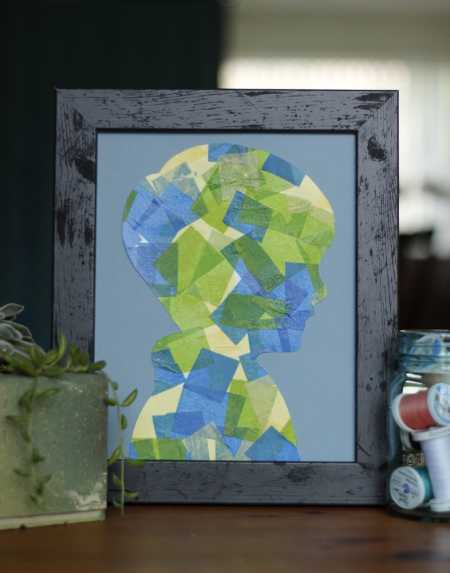 sparkle crafts: colorful silhouettes