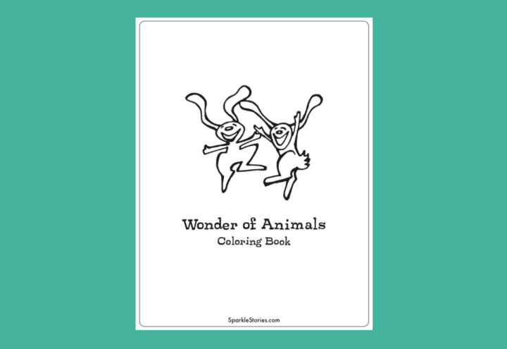 Sparkle Printable: Wonder of Animals Coloring Book!