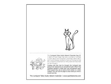 Junkyard Tales Audio Advent Calendar Printable Coloring