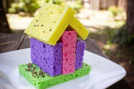 sparkle craft: sponge sprout houses
