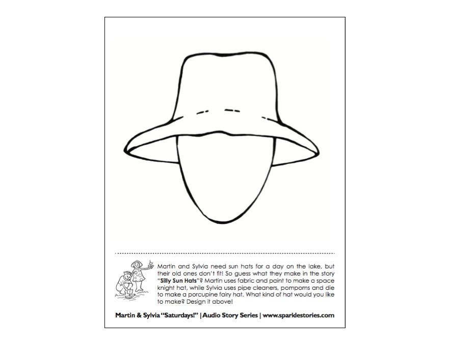 picture about Printable Hats referred to as Martin Sylvias: Saays! Printable Challenge Webpage: Foolish