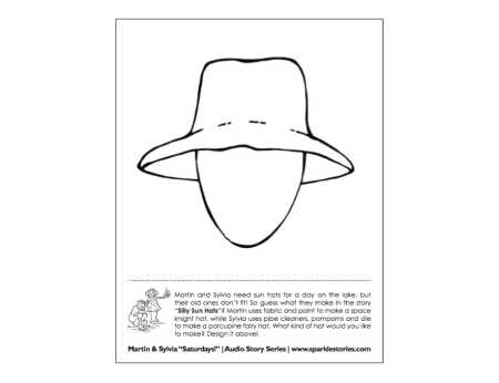 Martin & Sylvia's: Saturdays! Printable Project Page: Silly Sun Hats