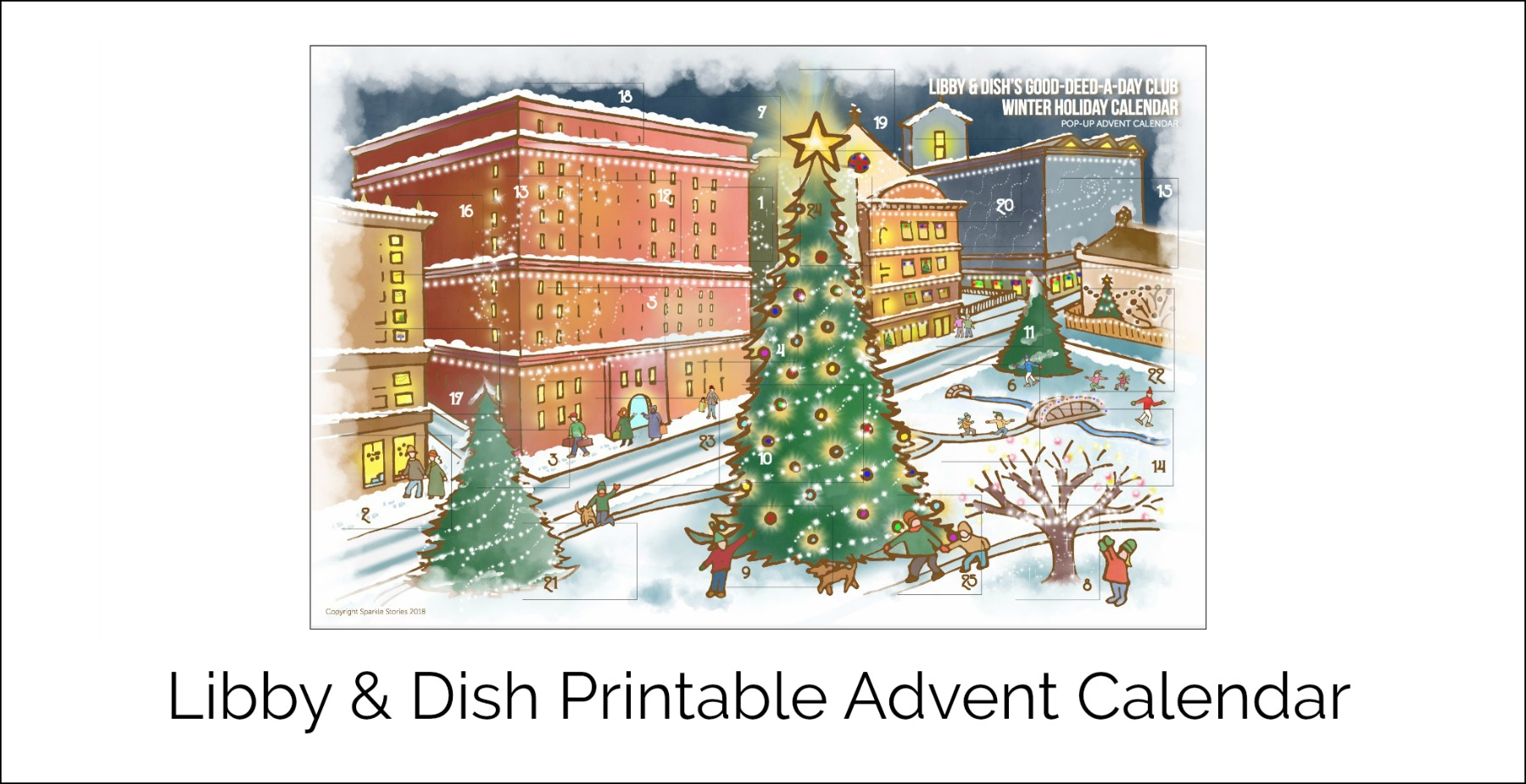 Libby & Dish Printable Advent Calendar 2018 Front Banner for blog 1800