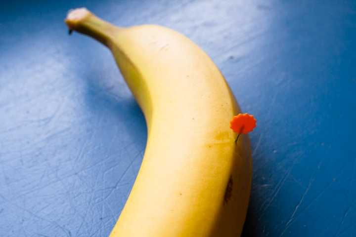 banana with pin inside