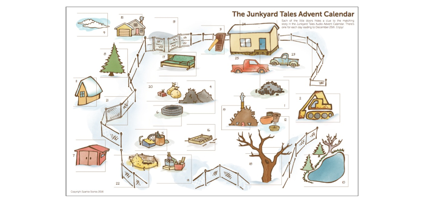 Junkyard Tales Audio Advent Calendar image for blog, centered