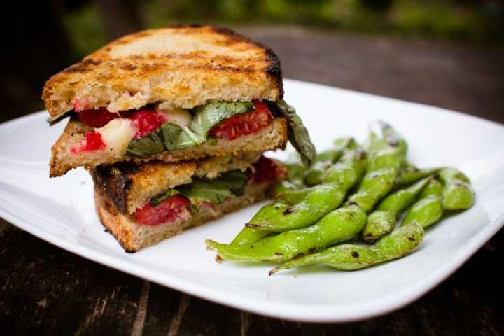 campfire raspberry basil grilled cheese sandwiches 7 | www.sparklestories.com| by thistle by thimble