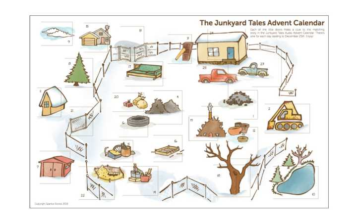 Junkyard Tales Printable Advent Calendar Header Image