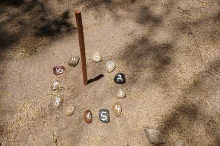 nature school project: DIY sundials