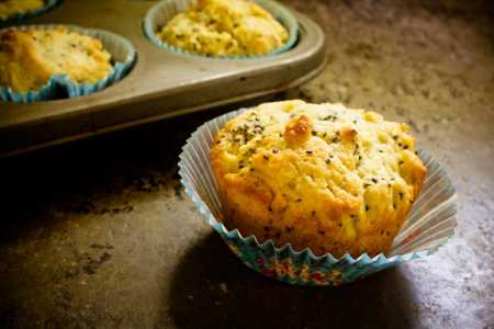 sparkle kitchen: lemon ginger chia muffins