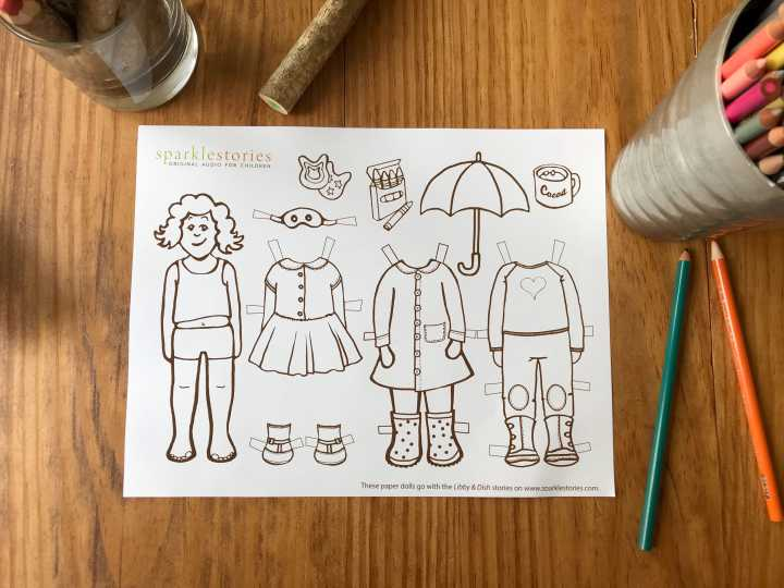 Libby & Dish Paper Dolls!