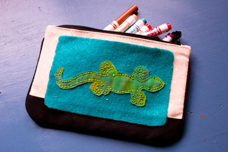 salamander pencil pouch patch 15 |www.sparklestories.com| so many fairies