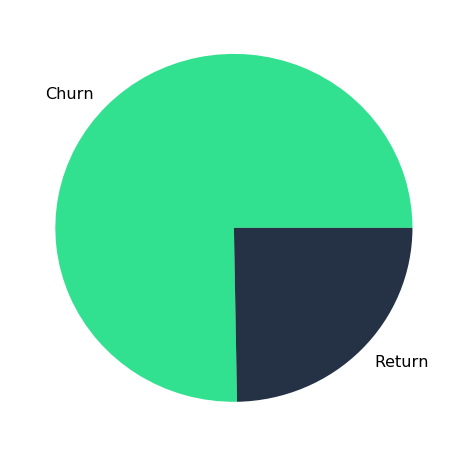 Churn and Return Rate from 2017 to 2018 for NOAH Conference Berlin