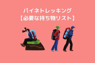 パイネトレッキング準備【アクセス・ホテル予約】