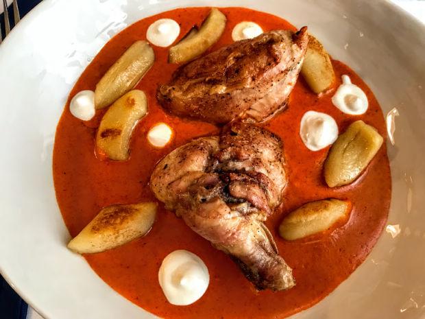 chicken paprikash with sour cream