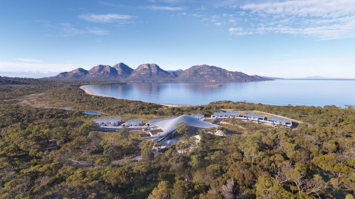 Aerial View of Saffire Freycinet